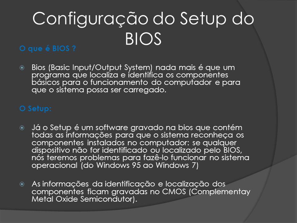 Configuração do Setup do BIOS