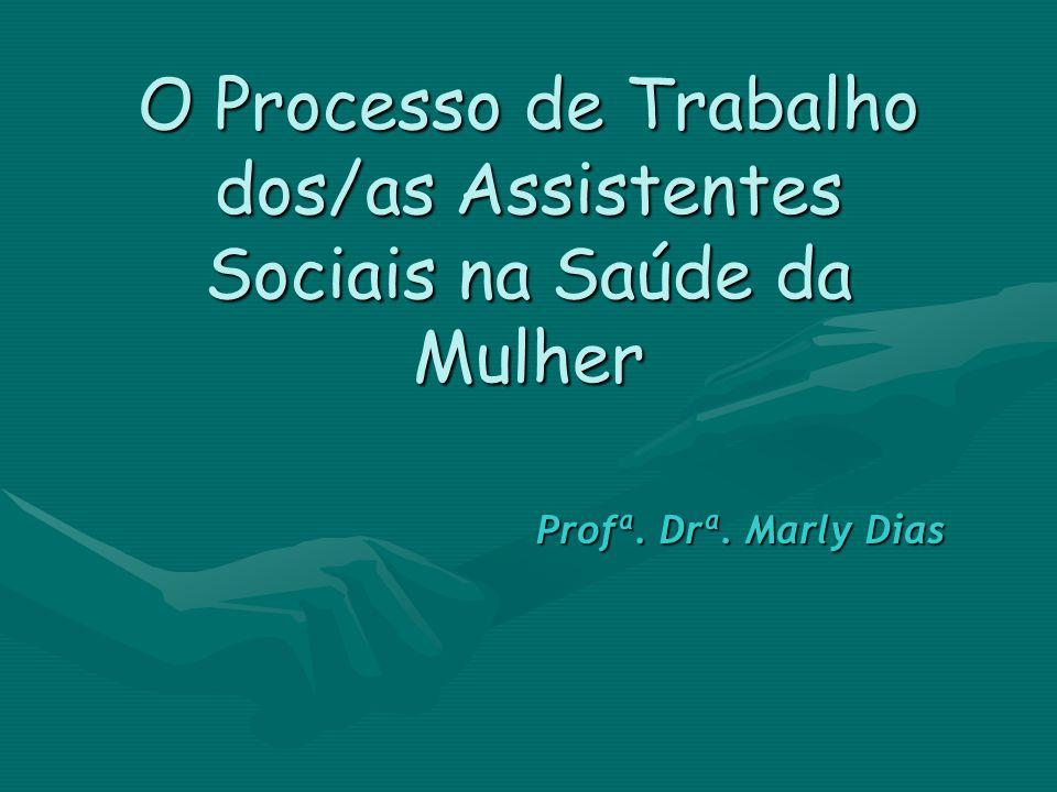 O Processo de Trabalho dos/as Assistentes Sociais na Saúde da Mulher