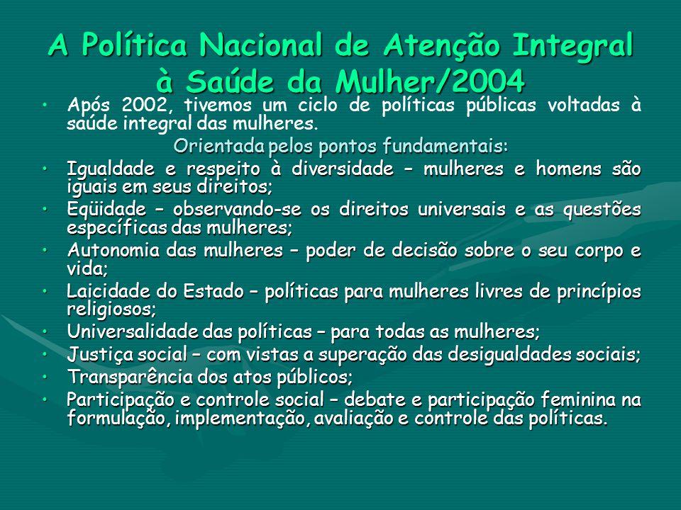A Política Nacional de Atenção Integral à Saúde da Mulher/2004