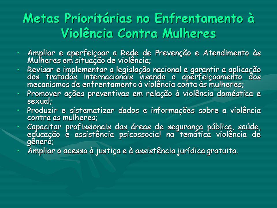 Metas Prioritárias no Enfrentamento à Violência Contra Mulheres