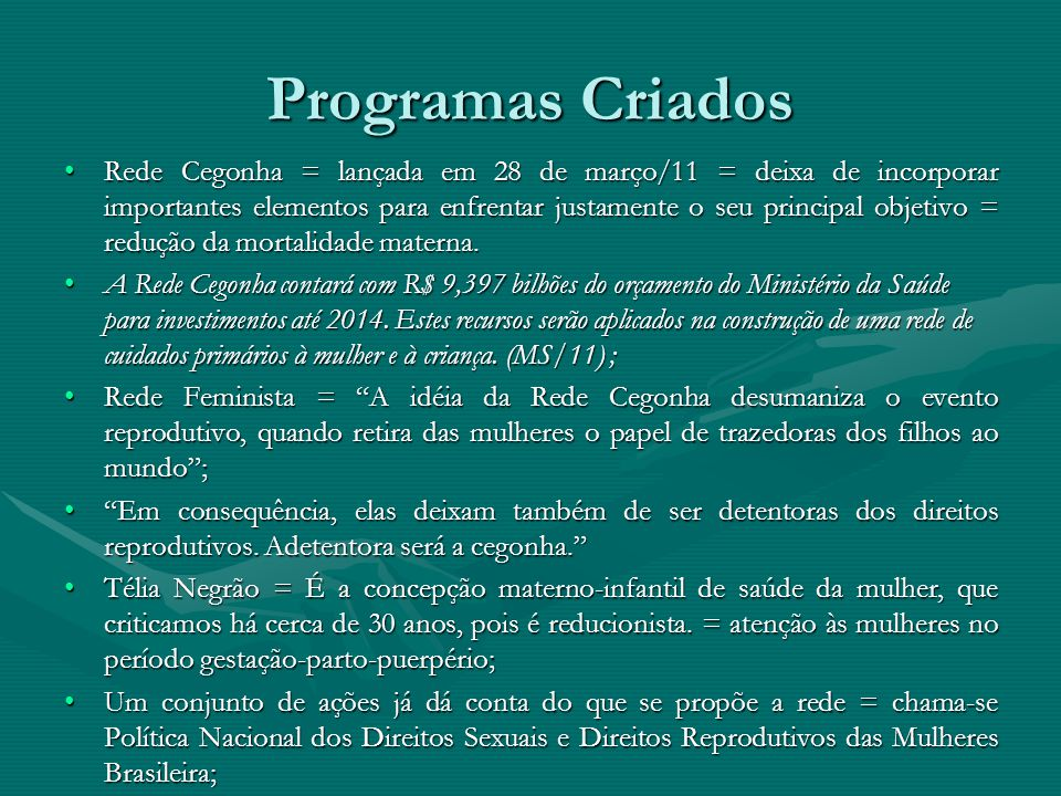 Programas Criados