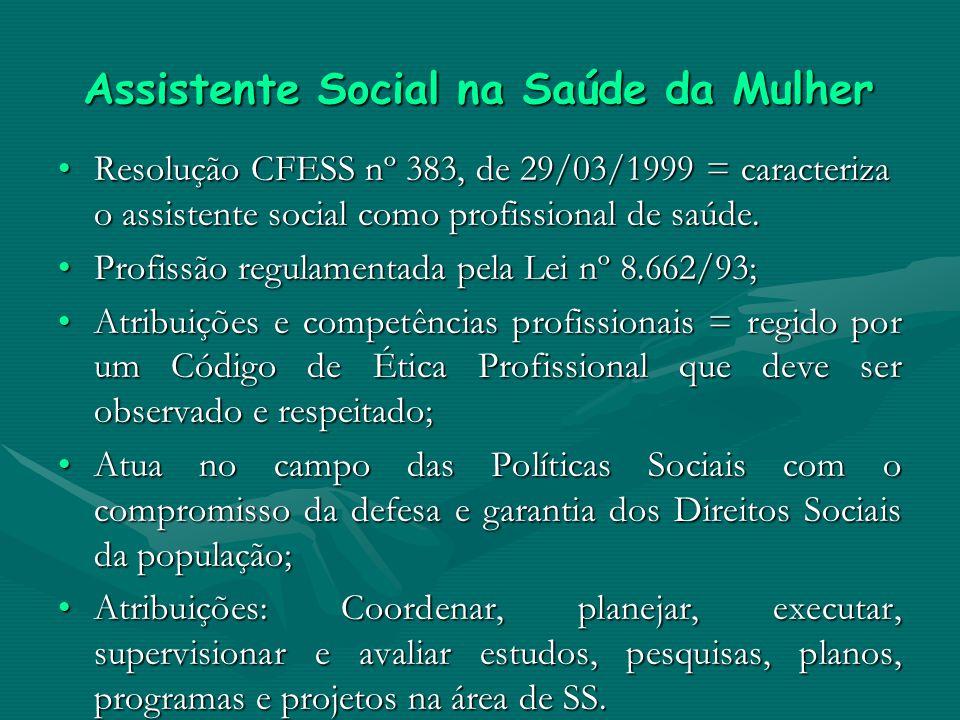 Assistente Social na Saúde da Mulher