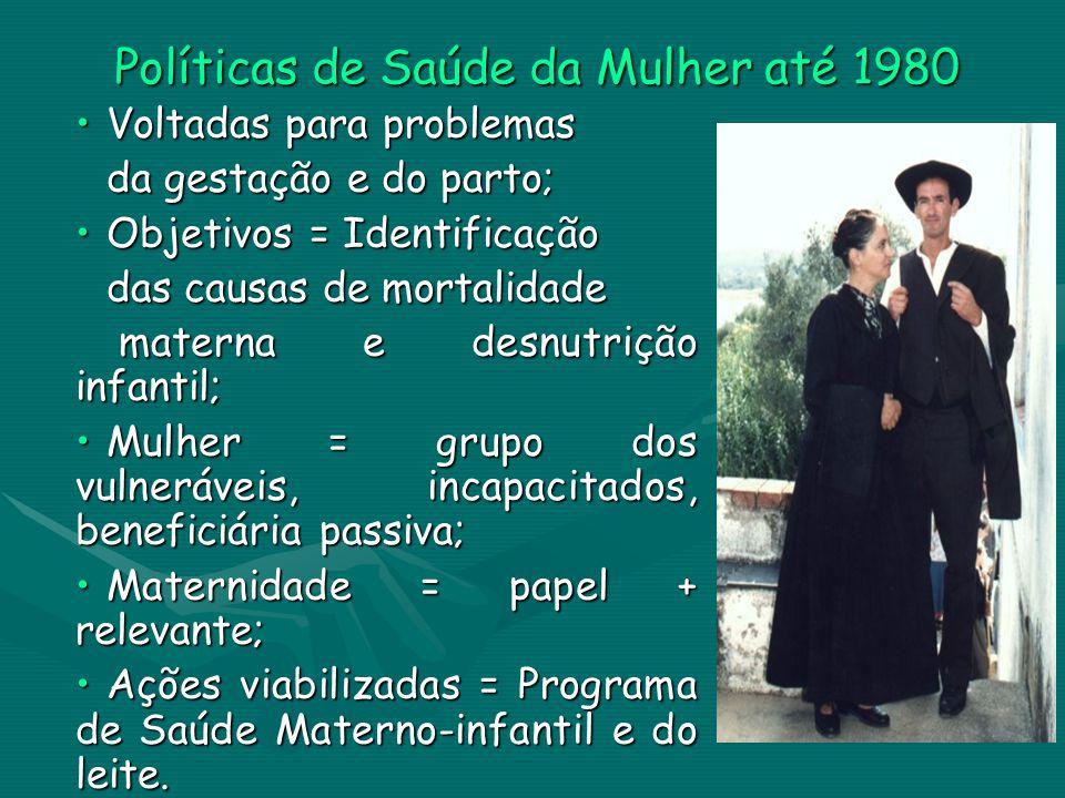 Políticas de Saúde da Mulher até 1980