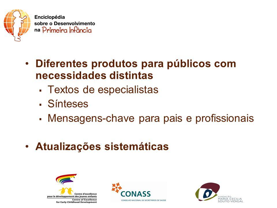 Diferentes produtos para públicos com necessidades distintas
