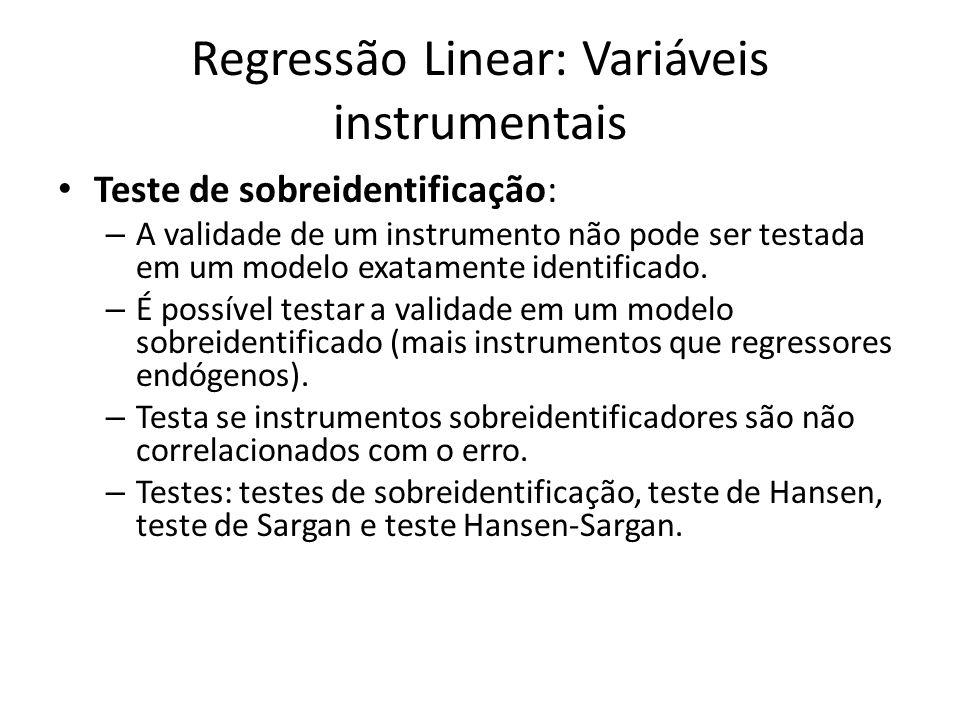 Regressão Linear: Variáveis instrumentais