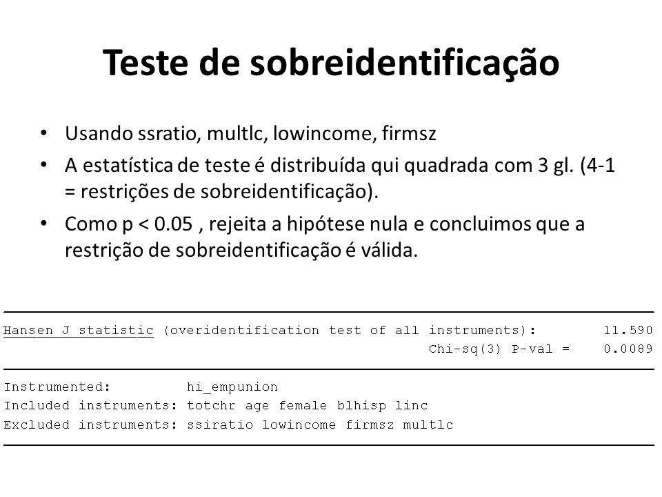 Teste de sobreidentificação