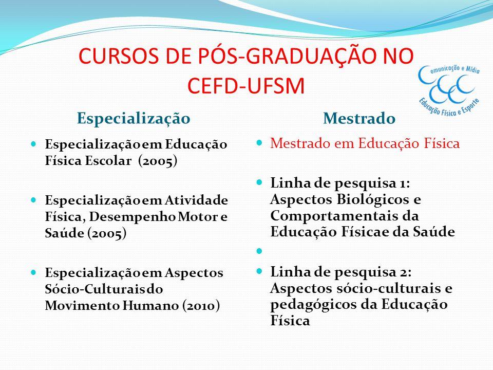 CURSOS DE PÓS-GRADUAÇÃO NO CEFD-UFSM
