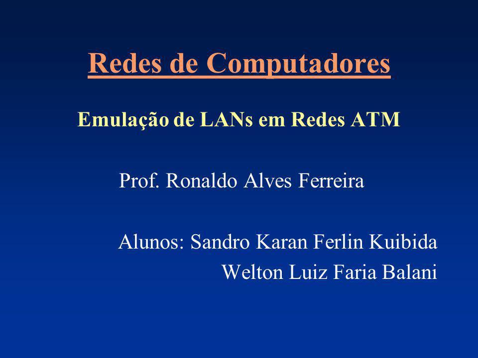 Redes de Computadores Emulação de LANs em Redes ATM