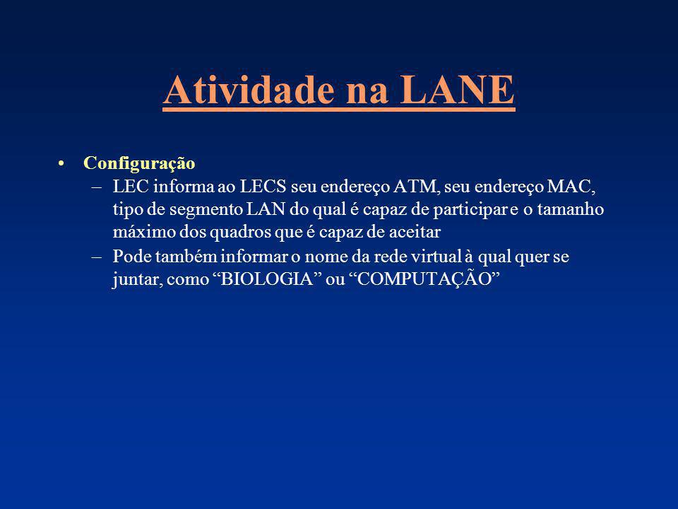 Atividade na LANE Configuração