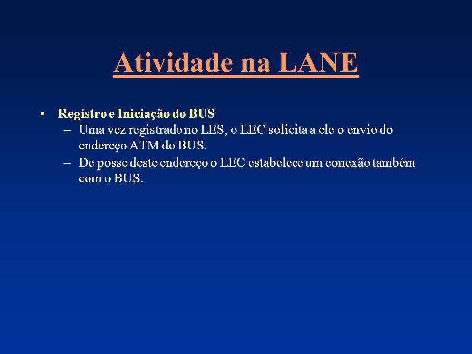 Atividade na LANE Registro e Iniciação do BUS