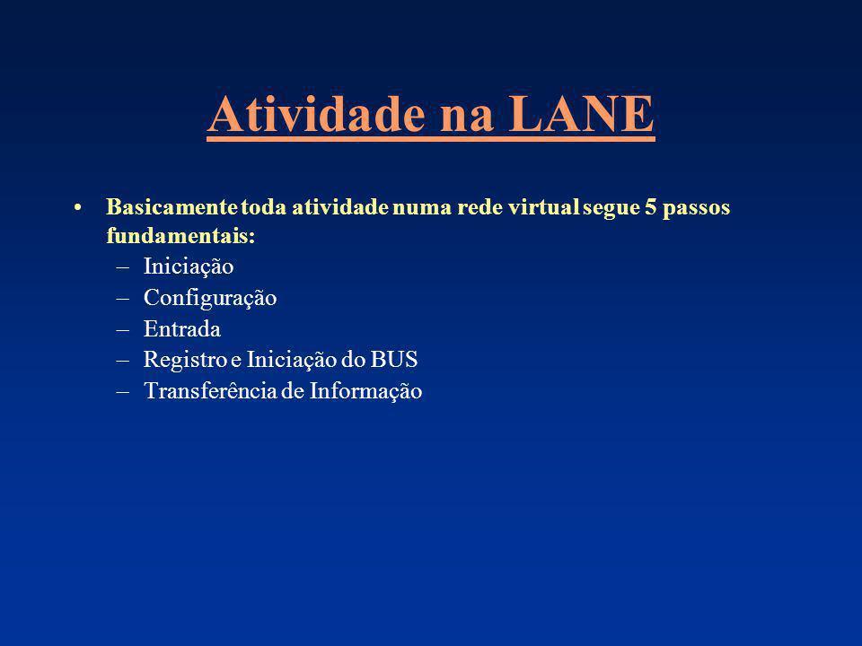Atividade na LANE Basicamente toda atividade numa rede virtual segue 5 passos fundamentais: Iniciação.