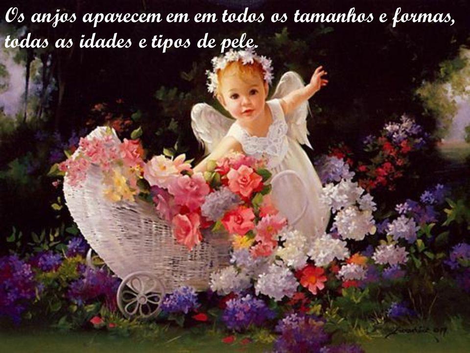 Os anjos aparecem em em todos os tamanhos e formas,