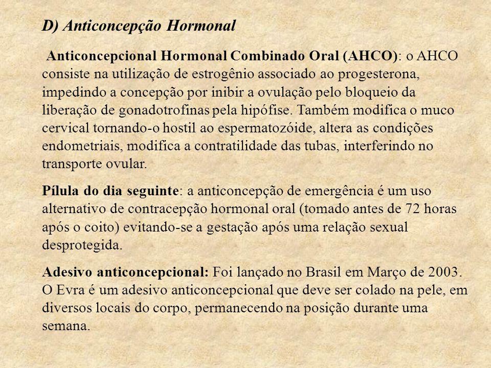 D) Anticoncepção Hormonal