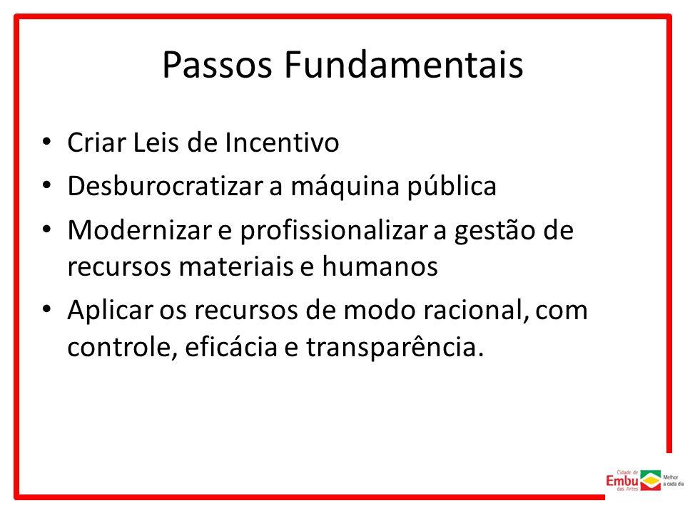 Passos Fundamentais Criar Leis de Incentivo