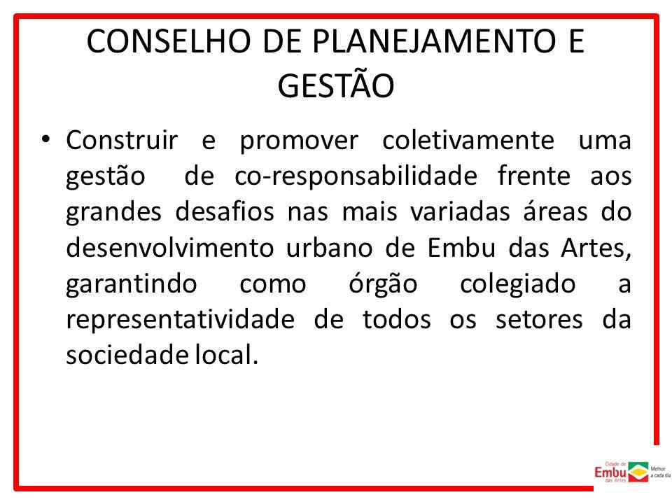 CONSELHO DE PLANEJAMENTO E GESTÃO