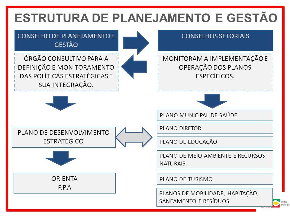 ESTRUTURA DE PLANEJAMENTO E GESTÃO