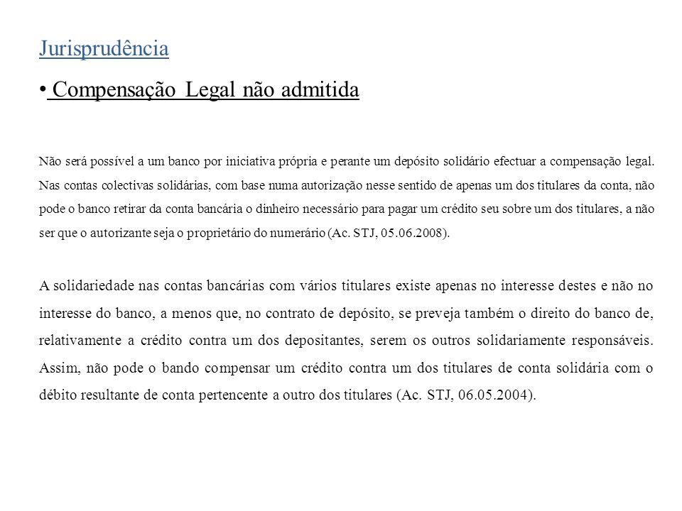 Compensação Legal não admitida