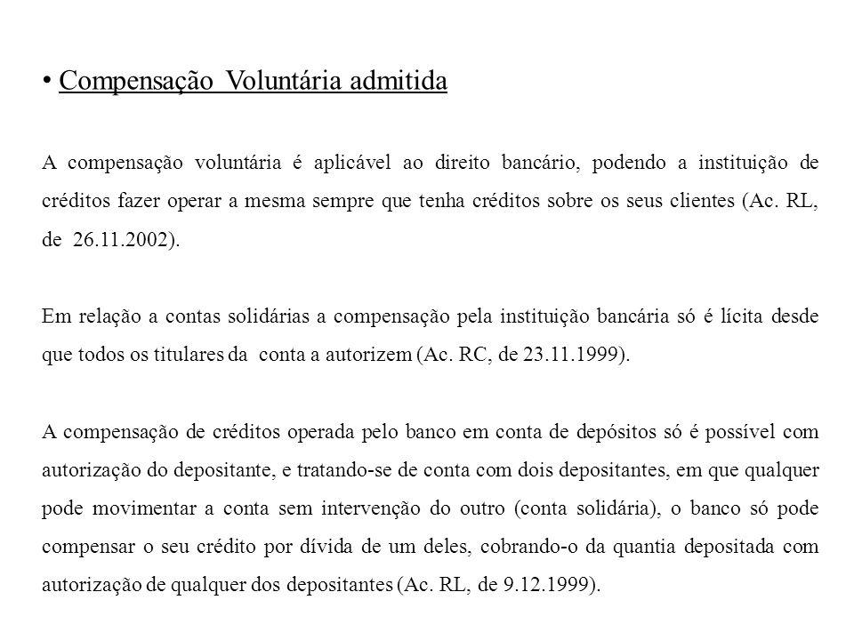 Compensação Voluntária admitida