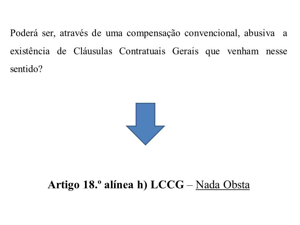 Artigo 18.º alínea h) LCCG – Nada Obsta