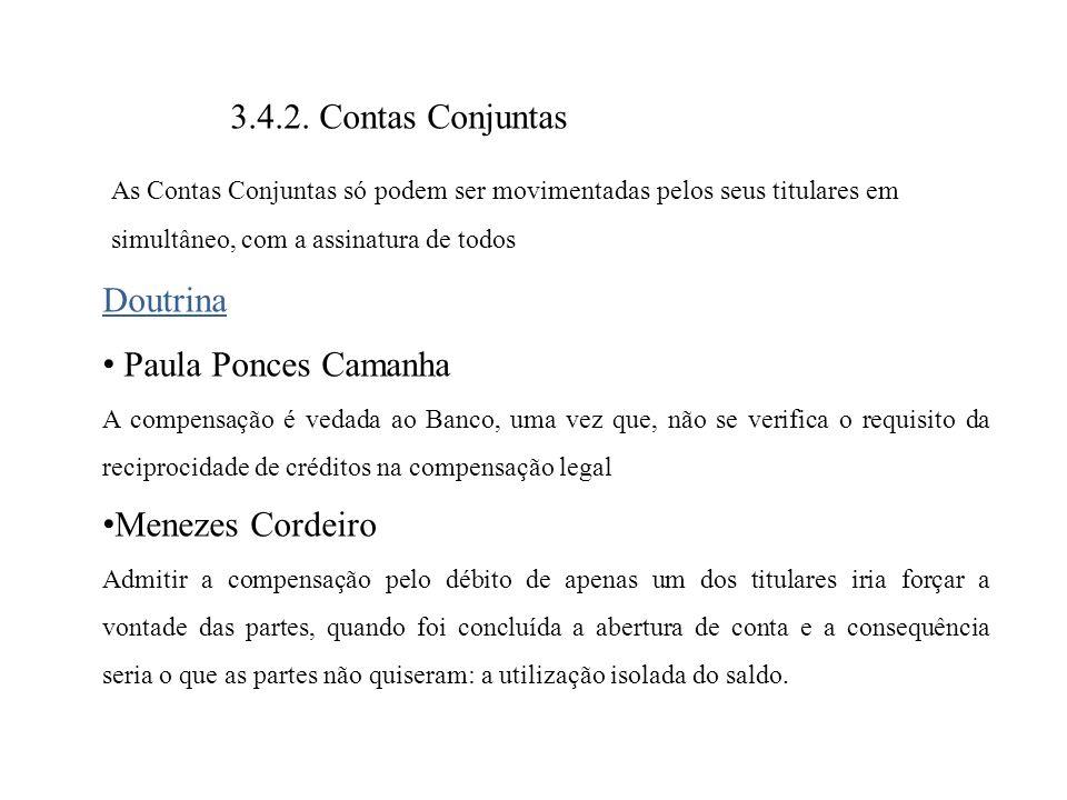 3.4.2. Contas Conjuntas Doutrina Paula Ponces Camanha Menezes Cordeiro