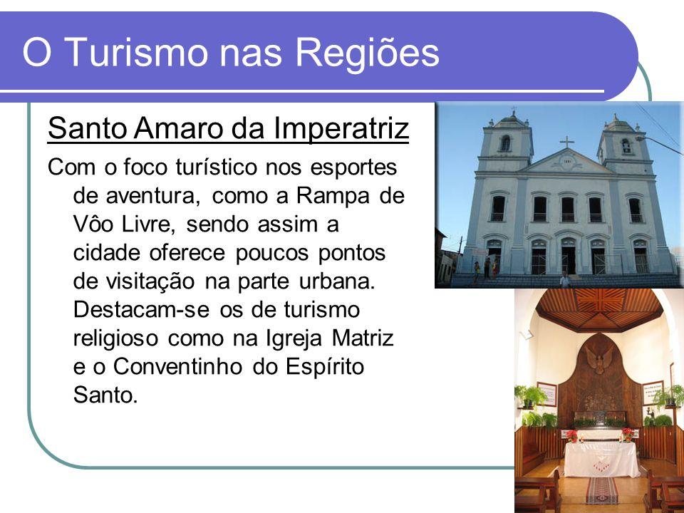 O Turismo nas Regiões Santo Amaro da Imperatriz