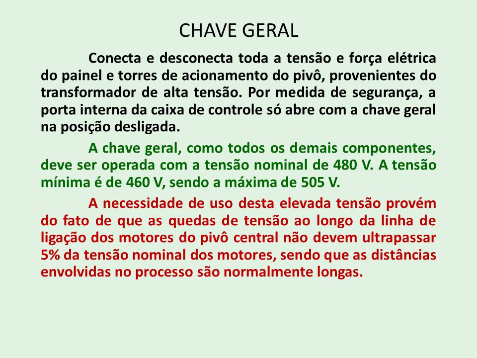 CHAVE GERAL