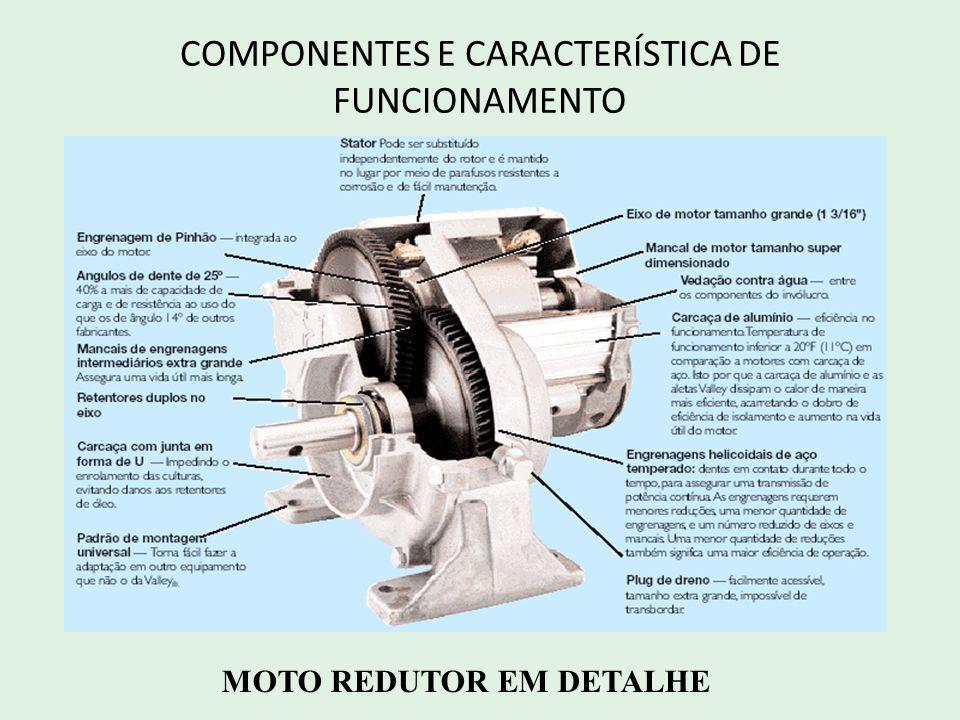 COMPONENTES E CARACTERÍSTICA DE FUNCIONAMENTO