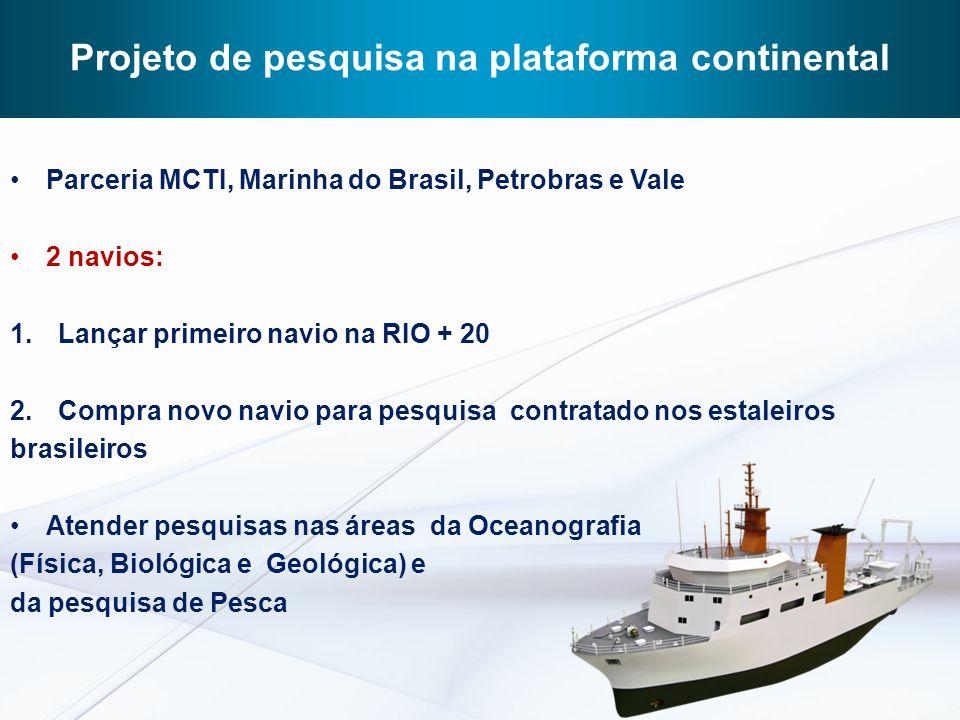 Projeto de pesquisa na plataforma continental