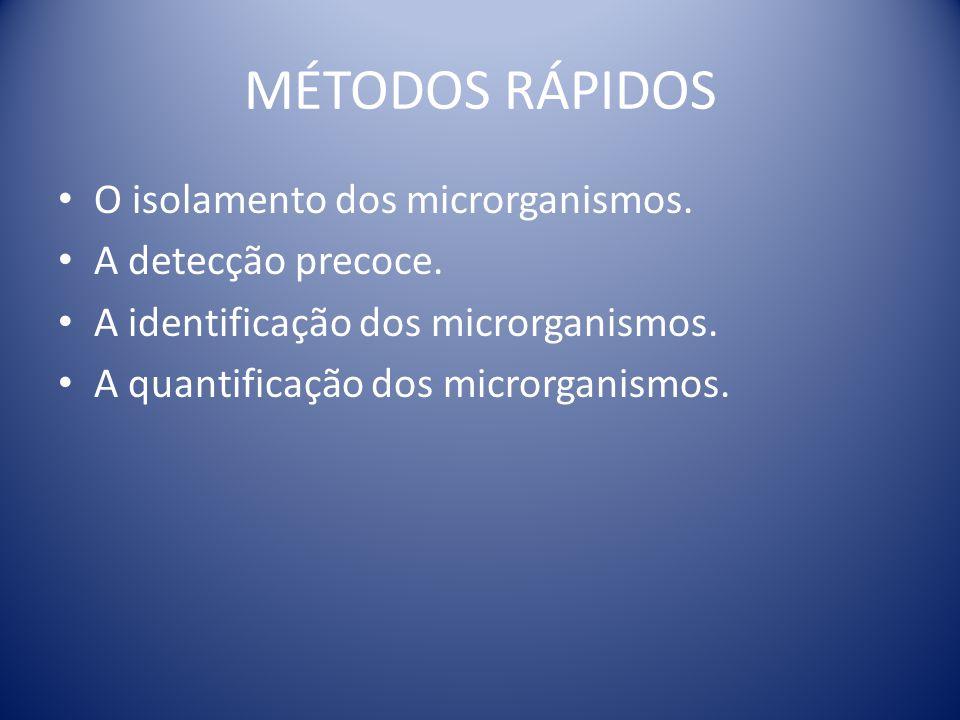 MÉTODOS RÁPIDOS O isolamento dos microrganismos. A detecção precoce.