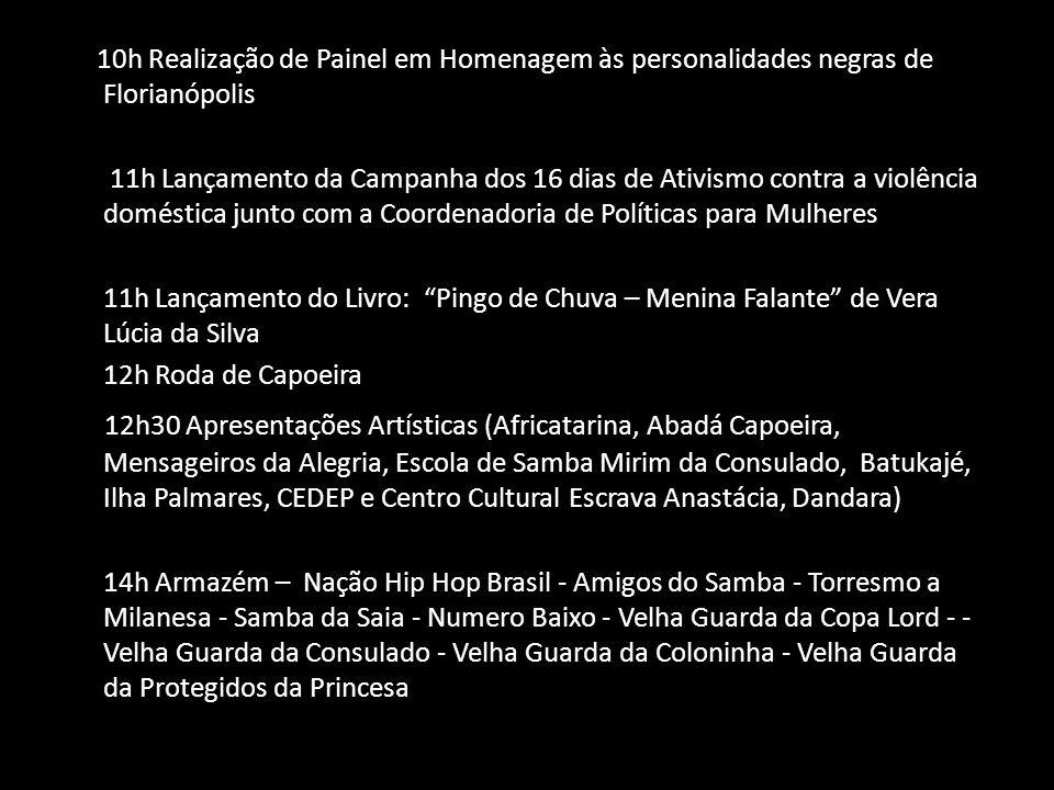 10h Realização de Painel em Homenagem às personalidades negras de Florianópolis