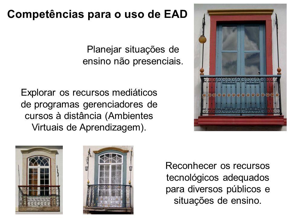 Competências para o uso de EAD