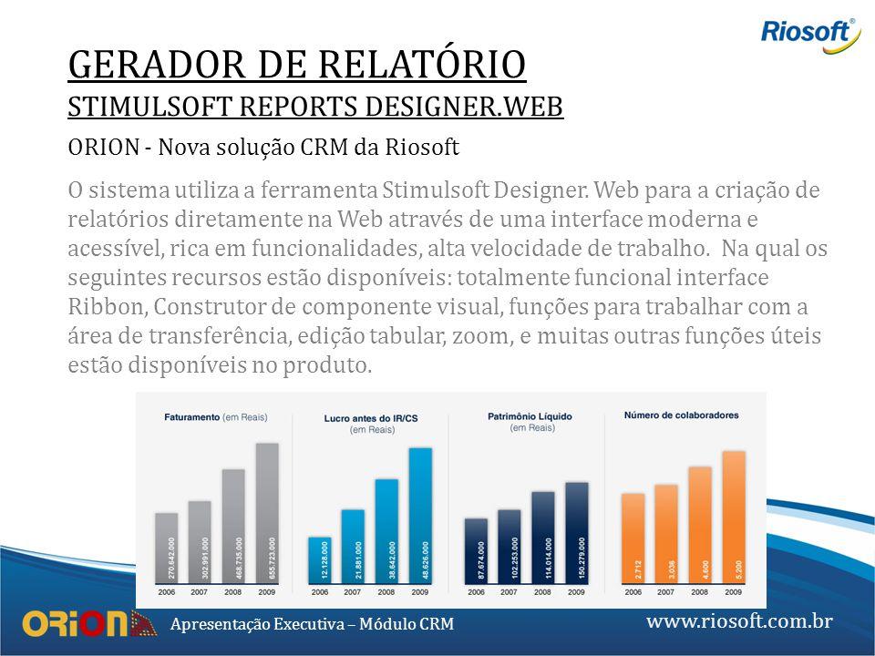 GERADOR DE RELATÓRIO STIMULSOFT REPORTS DESIGNER.WEB