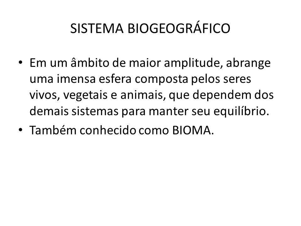 SISTEMA BIOGEOGRÁFICO