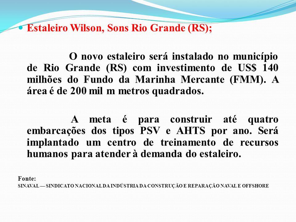 Estaleiro Wilson, Sons Rio Grande (RS);