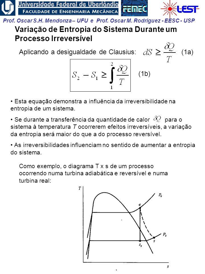 Variação de Entropia do Sistema Durante um Processo Irreversível