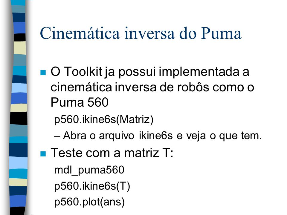 Cinemática inversa do Puma