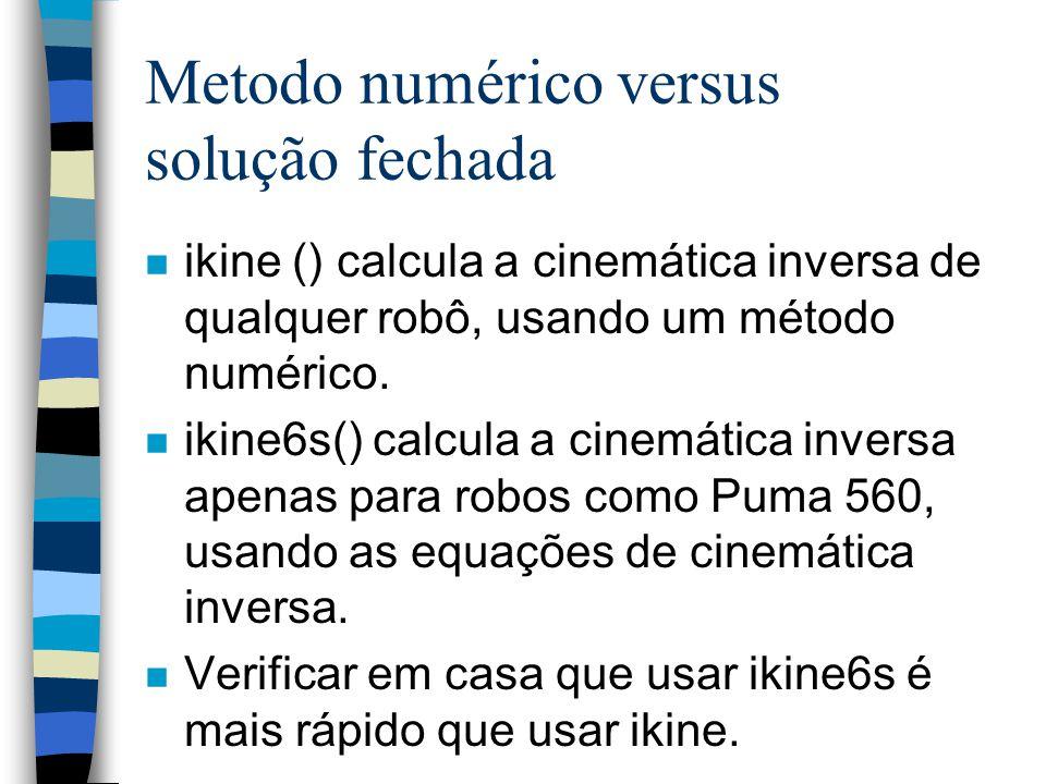 Metodo numérico versus solução fechada