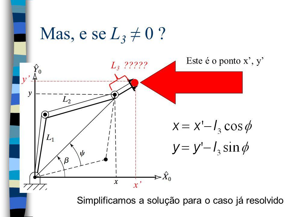 Mas, e se L3 ≠ 0 Este é o ponto x', y' L3 y' x'