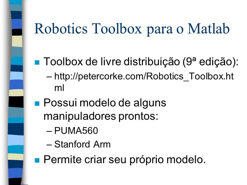 Robotics Toolbox para o Matlab