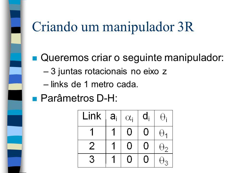 Criando um manipulador 3R