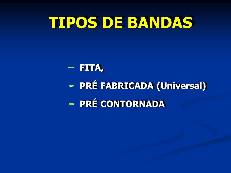 TIPOS DE BANDAS FITA, PRÉ FABRICADA (Universal) PRÉ CONTORNADA