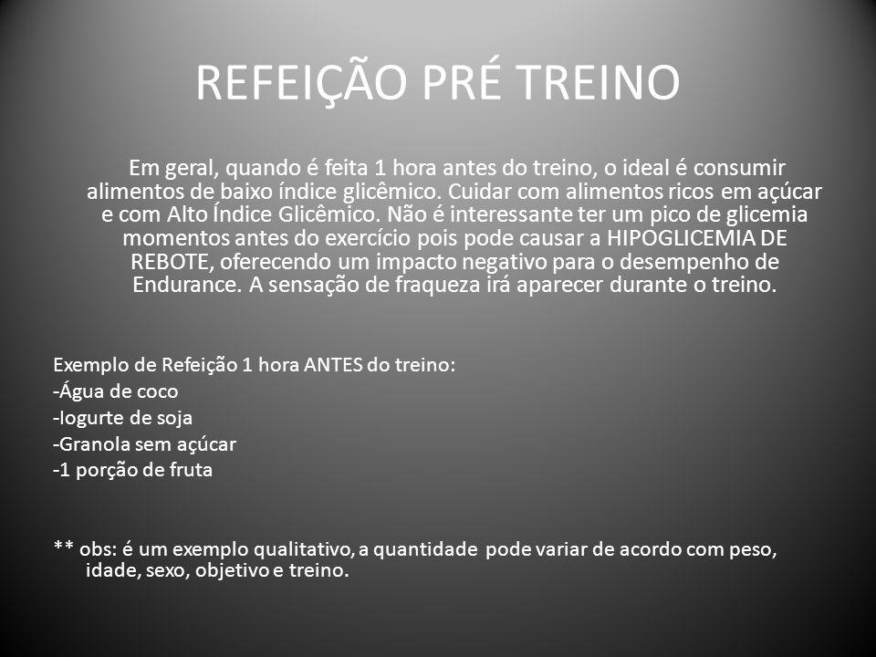 REFEIÇÃO PRÉ TREINO