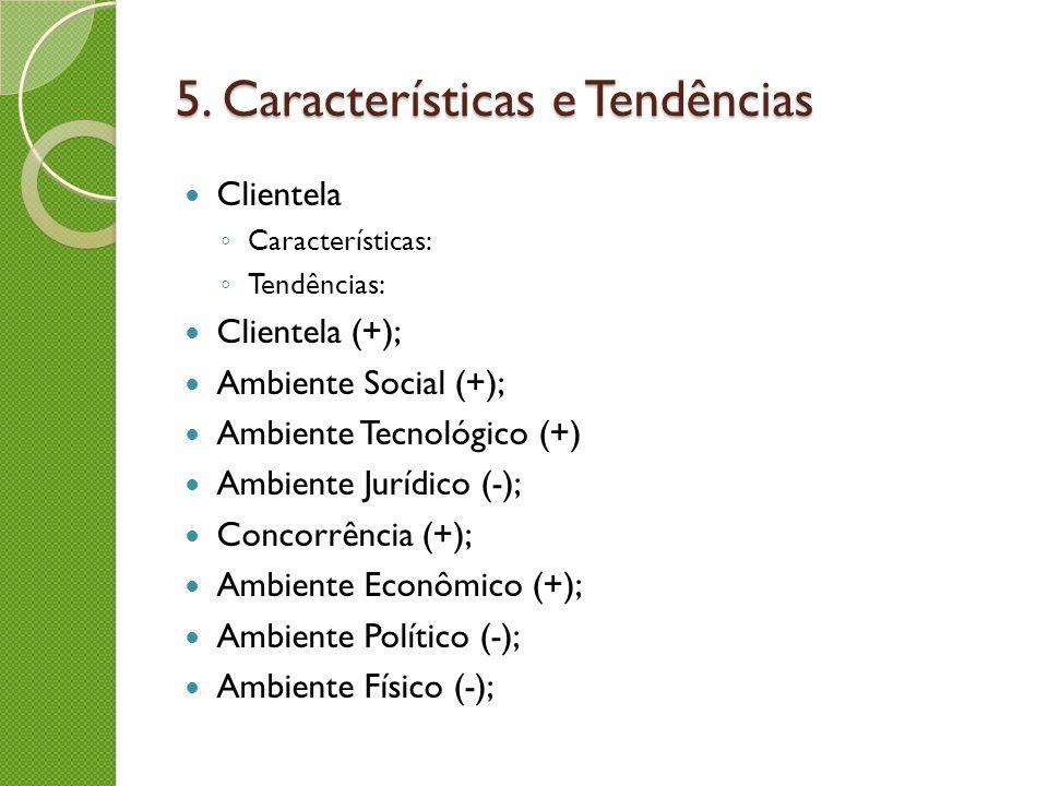 5. Características e Tendências