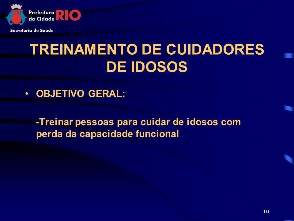 TREINAMENTO DE CUIDADORES DE IDOSOS