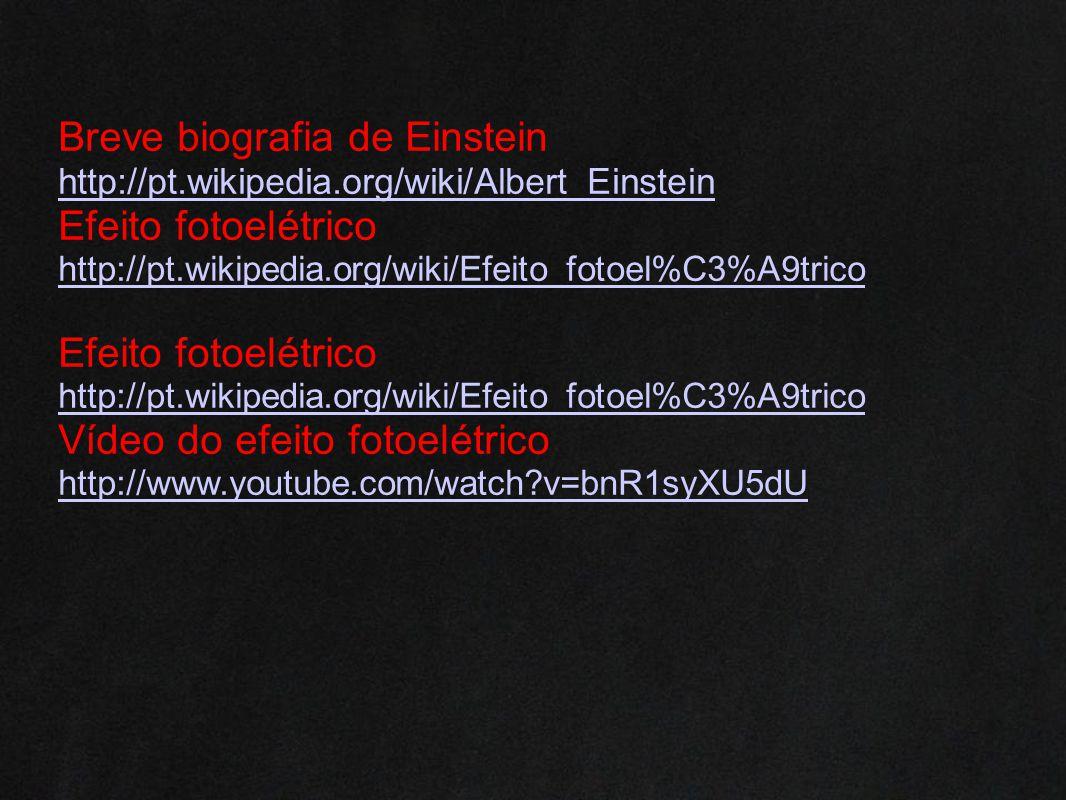 Breve biografia de Einstein Efeito fotoelétrico