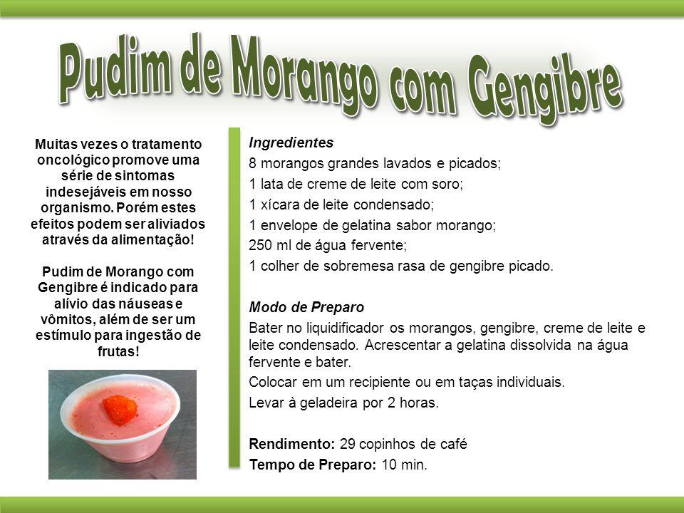Pudim de Morango com Gengibre