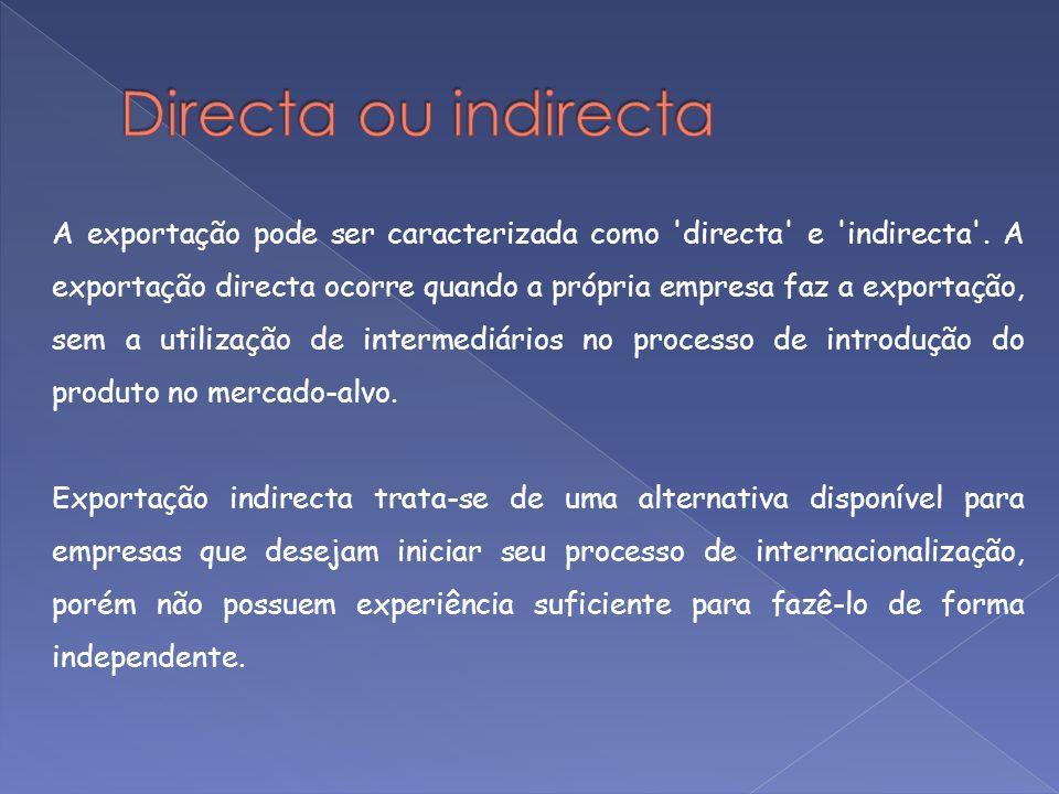 Directa ou indirecta