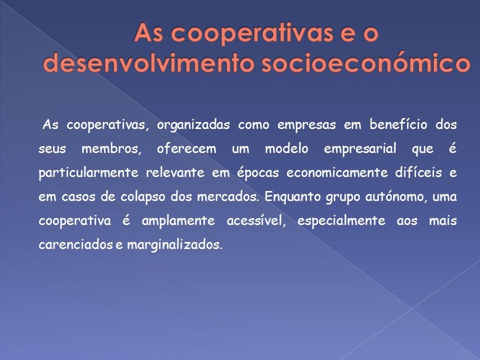 As cooperativas e o desenvolvimento socioeconómico