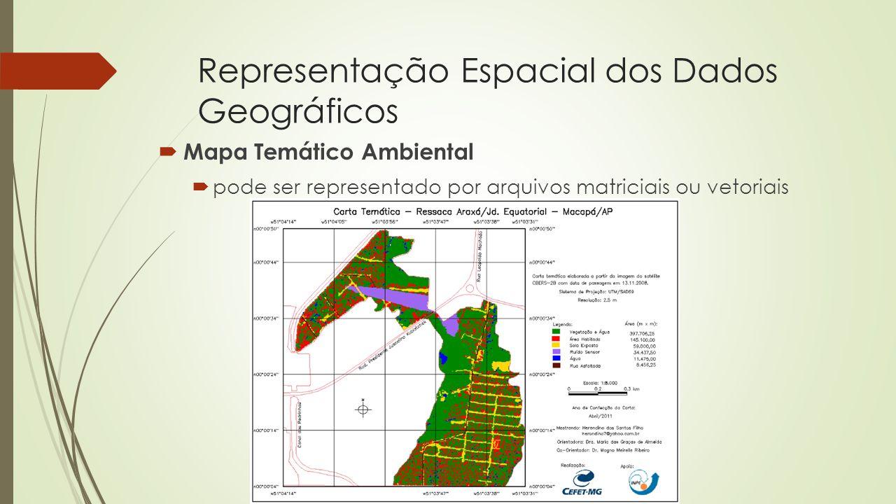 Representação Espacial dos Dados Geográficos