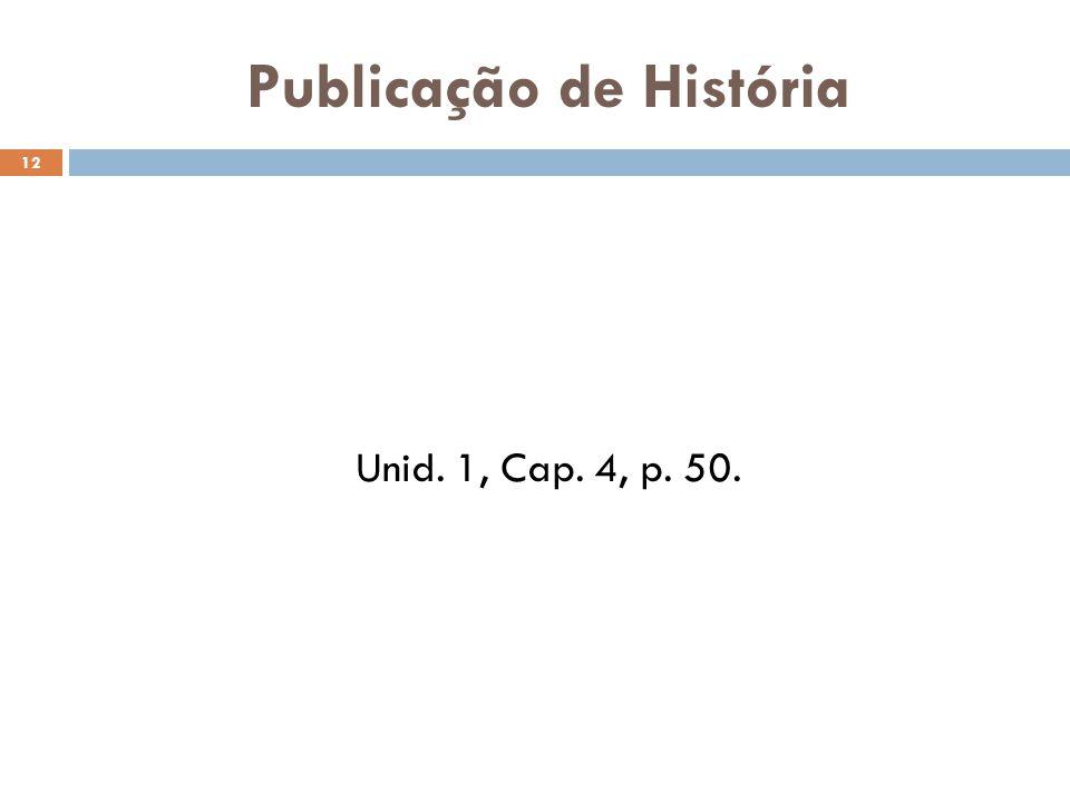 Publicação de História
